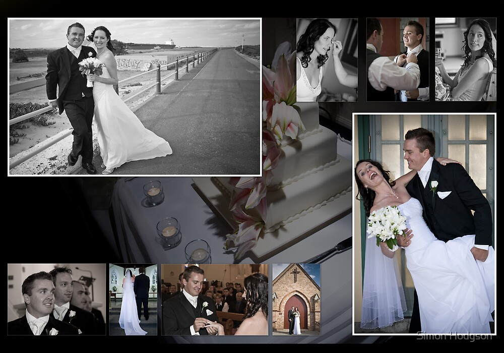 Wedding Collage 1 by Simon Hodgson