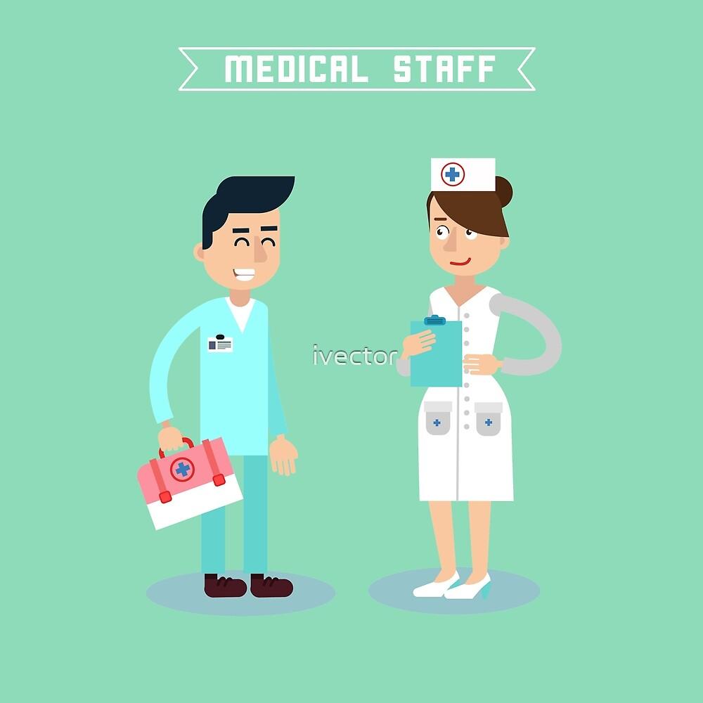 Medical Staff. Nurse and Doctor. Hospital Medical Team. Health Care. Medicine Professional. Medical Concept.  by ivector