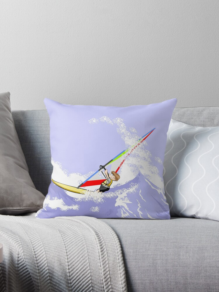 Child doing windsurfing in a fearful sea by MegaSitioDesign