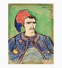 The Zouave, Vincent Van Gogh 1888  Photographic Print