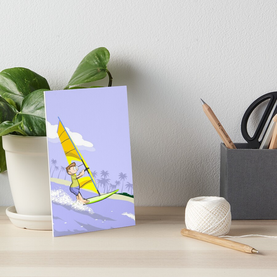 Boy practicing windsurfing by MegaSitioDesign