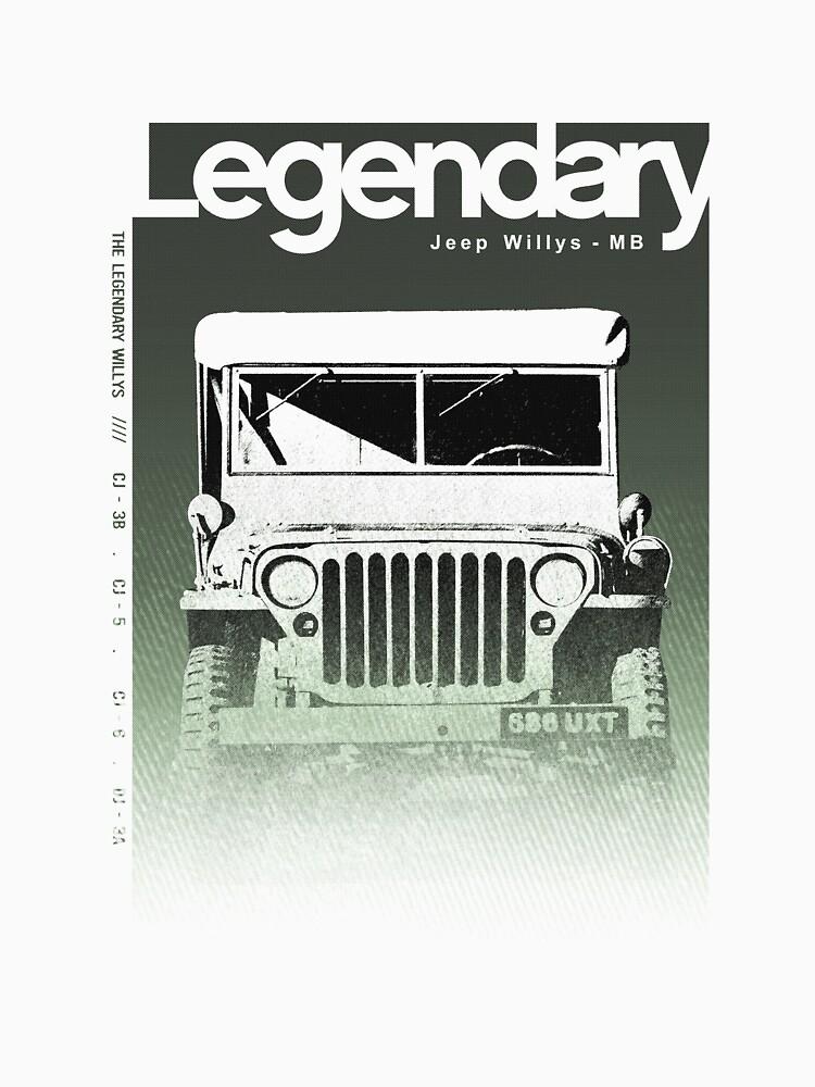 Jeep Legendary Funny t-shirt by FBRANDAO