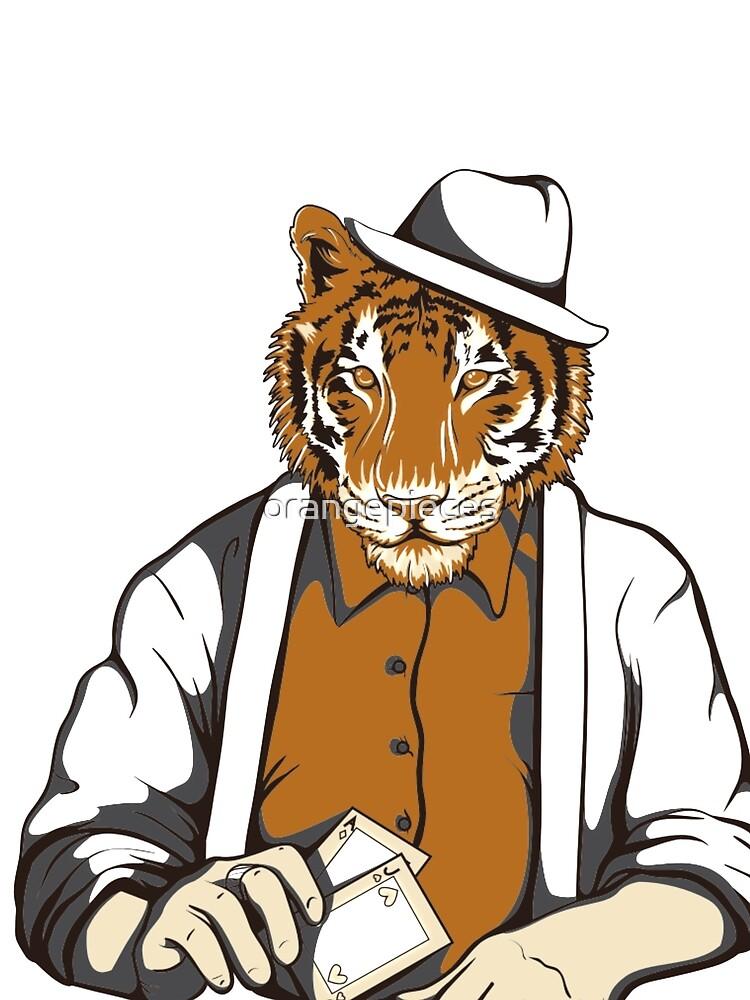 Tough face Tiger Poker Player Shirt by orangepieces