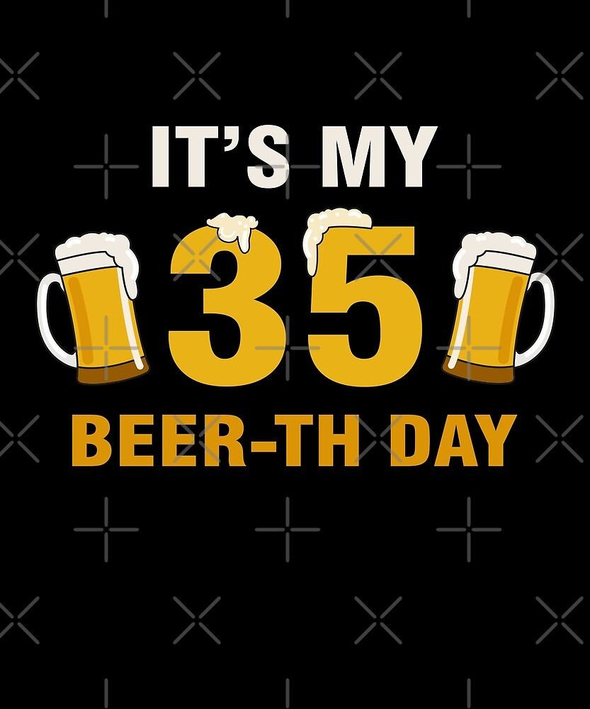 It's My 30th Beer-th Day Funny Birthday Cheer Pun by SpecialtyGifts