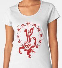 12 Monkeys - Terry Gilliam - Red on White Women's Premium T-Shirt