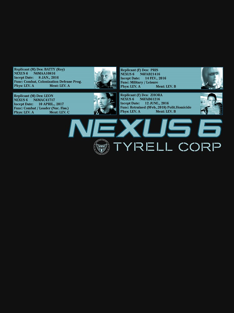 Nexus 6 Replicants : Inspired by Blade Runner by WonkyRobot