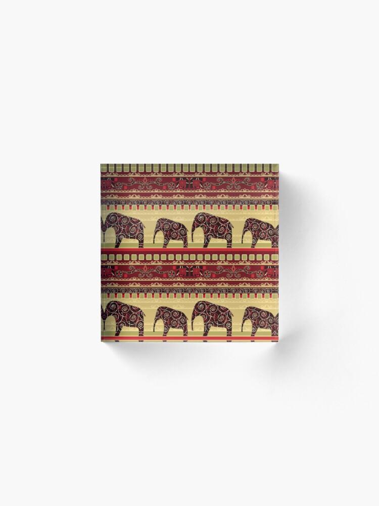 Alternative Ansicht von Afrikanischer Print mit Elefanten Acrylblock