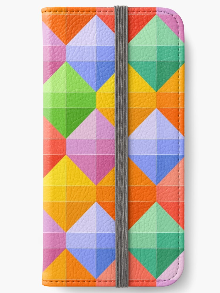 Rainbow Diamond Pattern Seamless by annawoodz