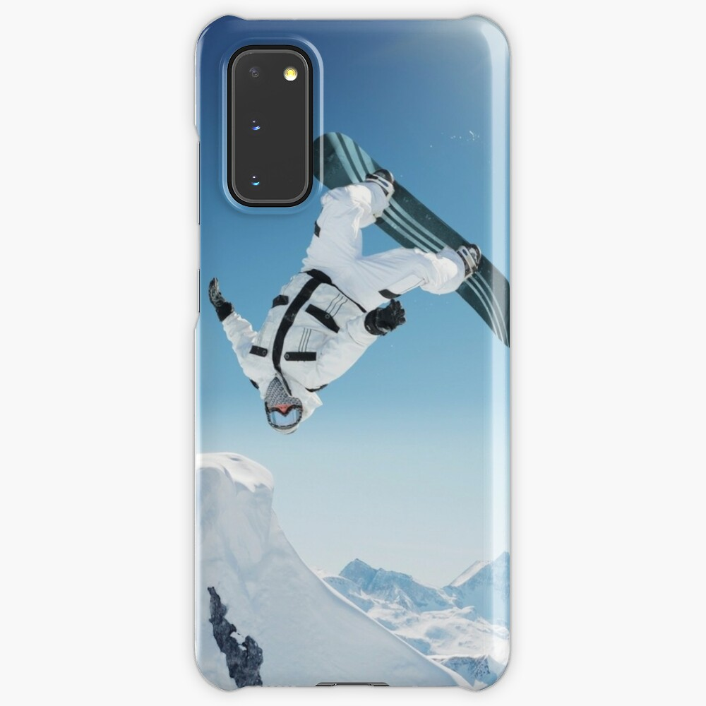 Cool Snowboarding Snowboarder Mountains Winter Snow Scene Case Skin For Samsung Galaxy By Dv Ltd Redbubble