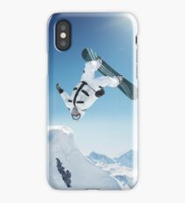Cool Snowboarding Snowboarder Mountains Winter Snow Scene iPhone Case/Skin
