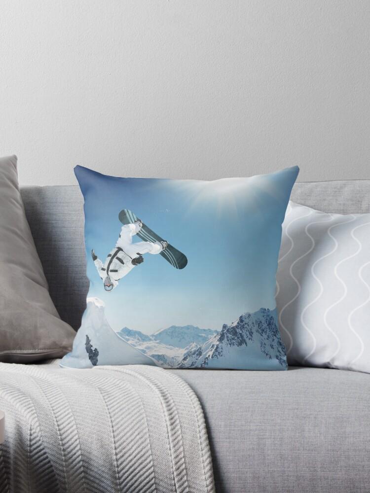 Cool Snowboarding Snowboarder Mountains Winter Snow Scene by DV-LTD
