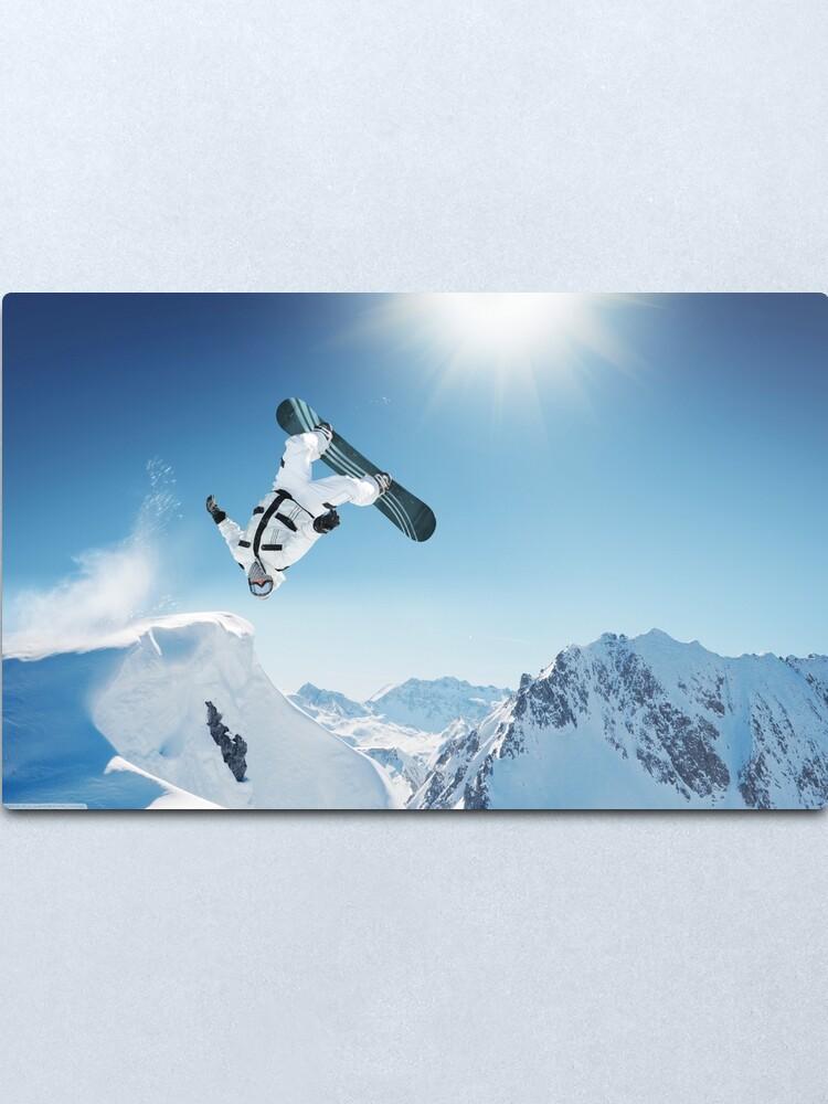 Snowboarding Snowboard Skiing Winter Sport Giant Wall Art Poster Print