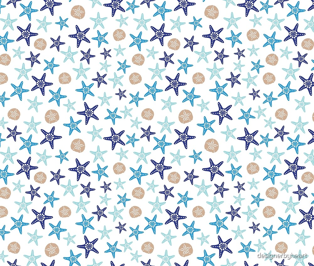 STARFISH AND SAND DOLLARS by designerbyheart