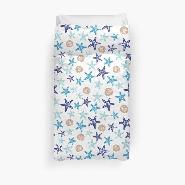 STARFISH AND SAND DOLLARS Duvet Cover