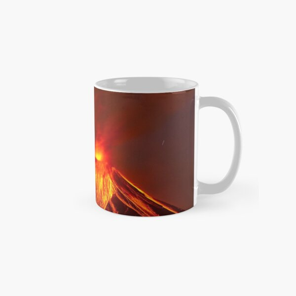 Active Lava Spewing Volcano  Classic Mug