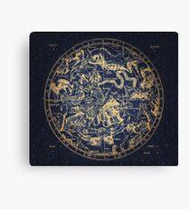 Zodiac Skies & Astrological Ties | Emboldened Yellow on Lazuli  Canvas Print