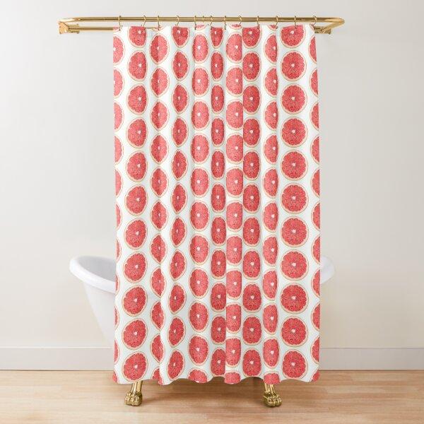 Slice of grapefruit Shower Curtain