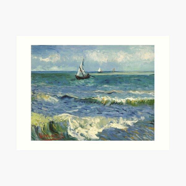 Vincent Van Gogh Seascape Painting Art Print