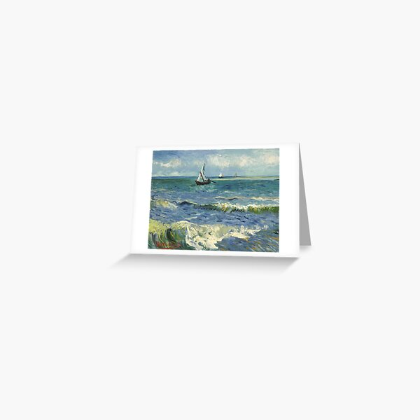 Vincent Van Gogh Seascape Painting Greeting Card