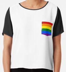 lgbt+ pride flag pocket Chiffon Top