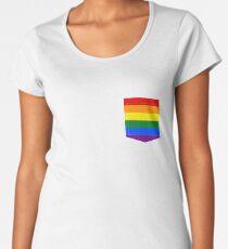 lgbt+ pride flag pocket Women's Premium T-Shirt