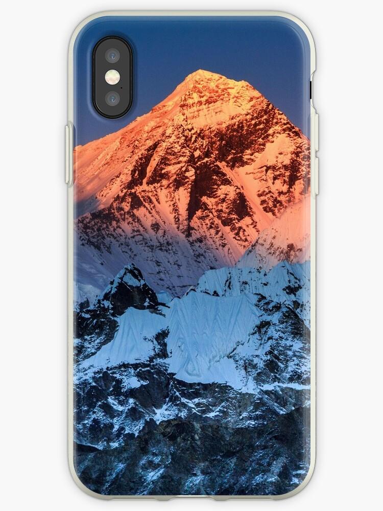 Sunlit Mount Everest Hiking Climbing Mountains by DV-LTD