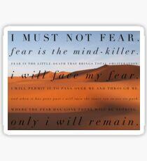 I must not fear Sticker