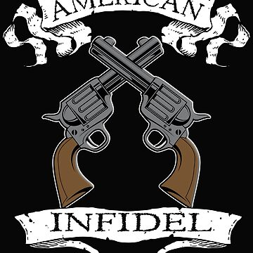 American Infidel Crossed Pistols by Albatross72