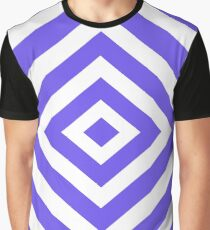 Abstract geometric pattern - blue and white. Graphic T-Shirt