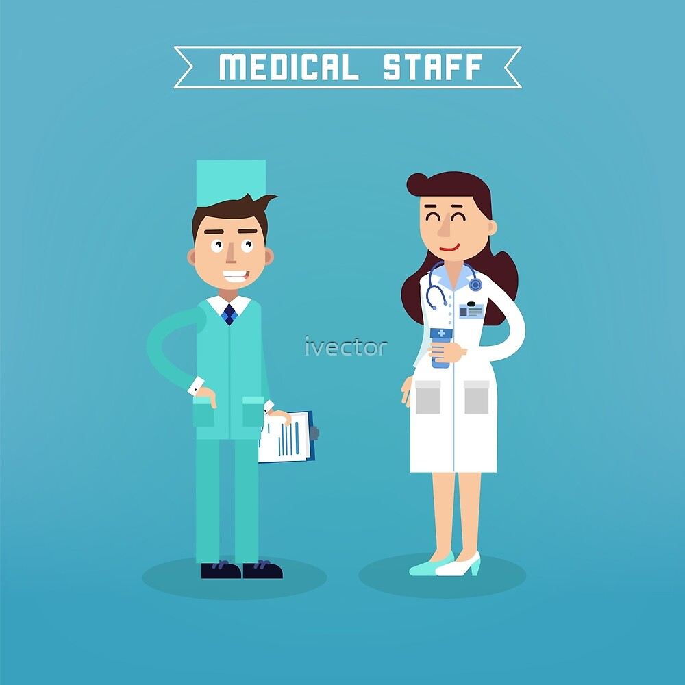 Medical Staff. Nurse and Doctor. Hospital Medical Team. Health Care. Medicine Professional. Medical Concept. by ivector