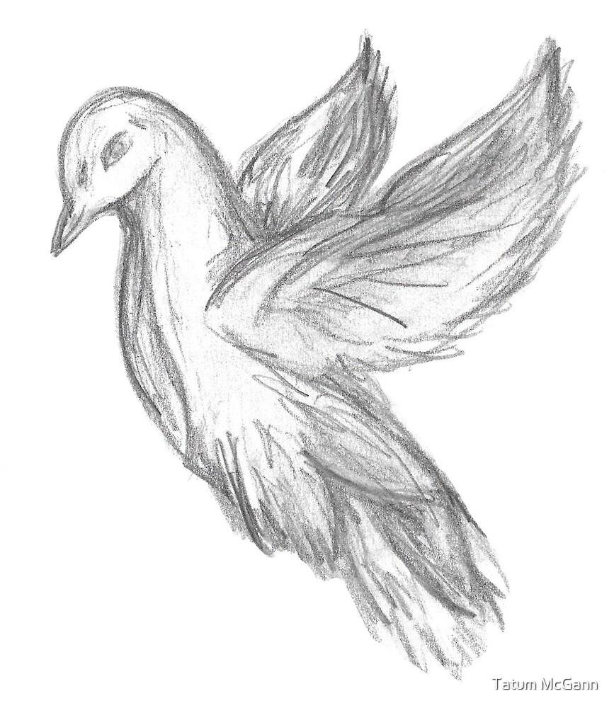 Fly away bird by Tatum McGann