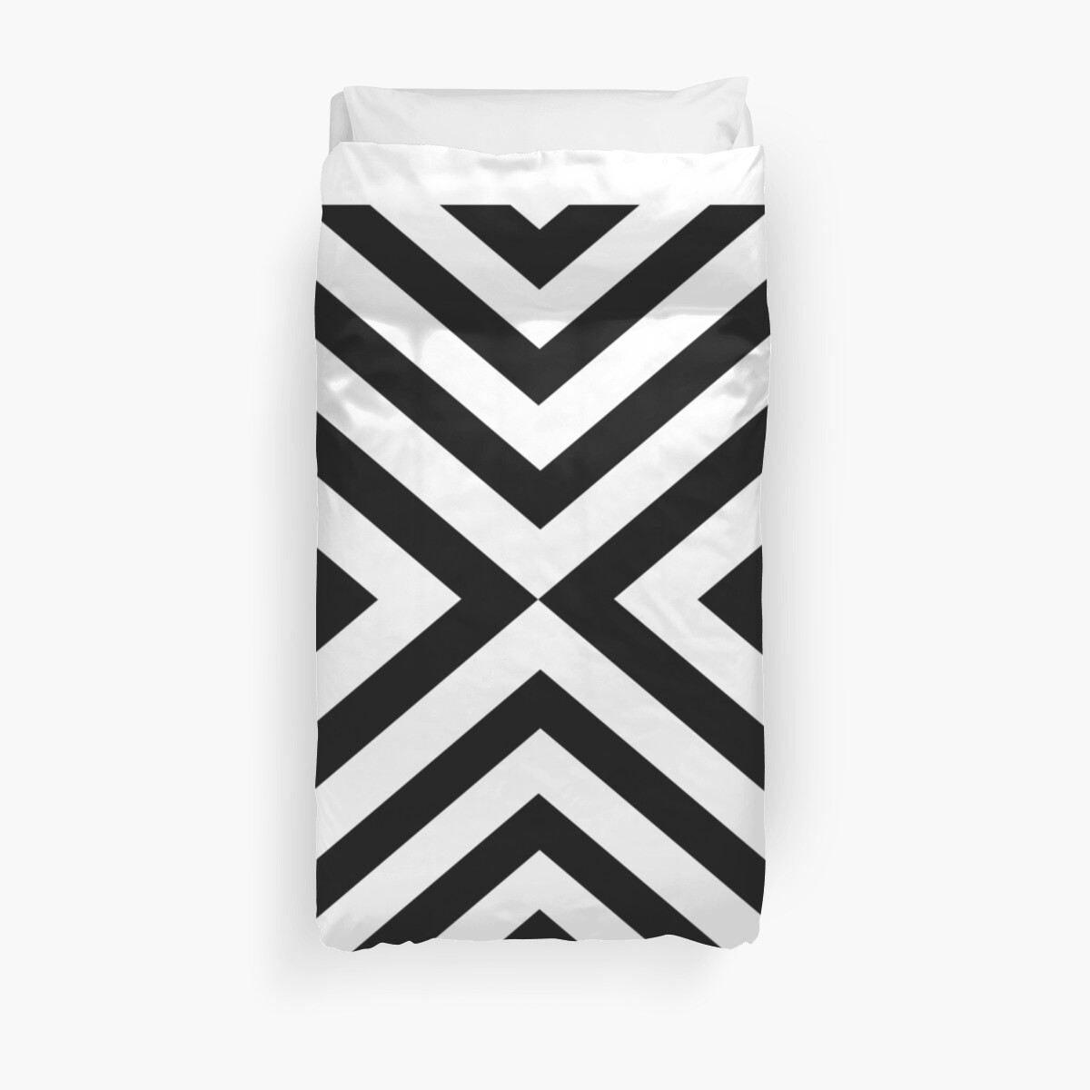 Abstract triangles geometric pattern - black and white. by kerens