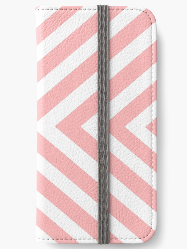 Abstract triangles geometric pattern - pink and white. by kerens