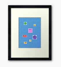 Cute Shapes On A Grid Framed Print