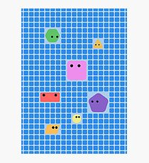 Cute Shapes On A Grid Photographic Print
