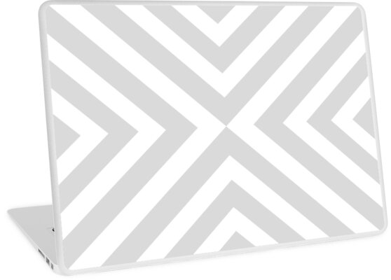 Abstract triangles geometric pattern - gray and white. by kerens