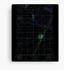 USGS TOPO Map Idaho ID Rigby 237863 1949 24000 Inverted Canvas Print