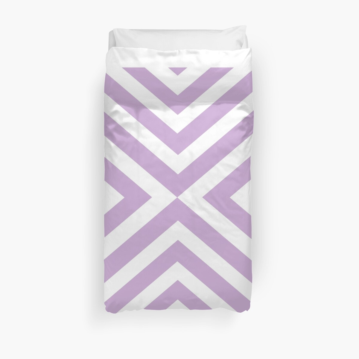 Abstract triangles geometric pattern - purple and white. by kerens