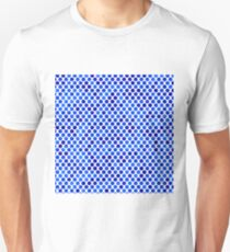 Abstract Elegant Blue  Background. Abstract Blue Mosaic Pattern T-Shirt