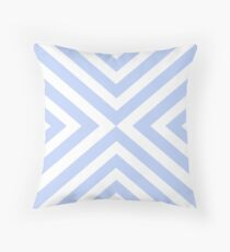 Abstract triangles geometric pattern - blue and white. Throw Pillow