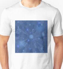 Abstract Elegant Blue Background. Blue Mosaic Pattern T-Shirt