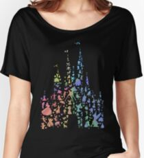 Happiest Castle On Earth (Rainbow Explosion) Women's Relaxed Fit T-Shirt