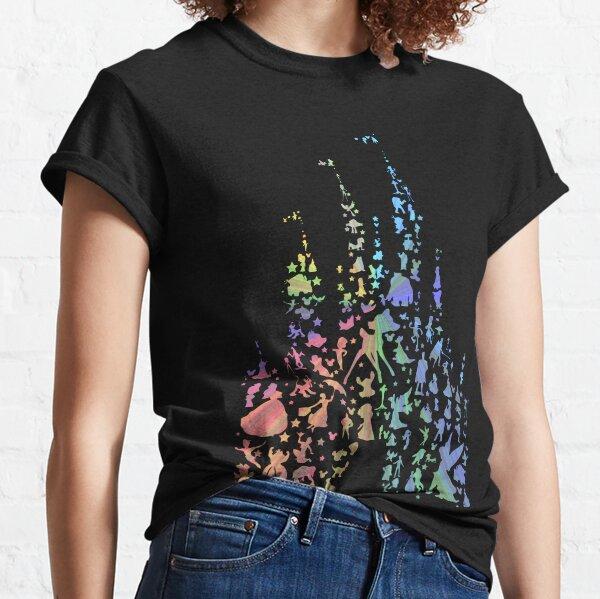 El castillo más feliz de la tierra (Explosión del arco iris) Camiseta clásica