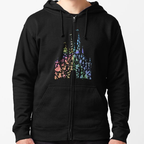 Happiest Castle On Earth (Rainbow Explosion) Zipped Hoodie