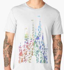 Happiest Castle On Earth (Rainbow Explosion) Men's Premium T-Shirt