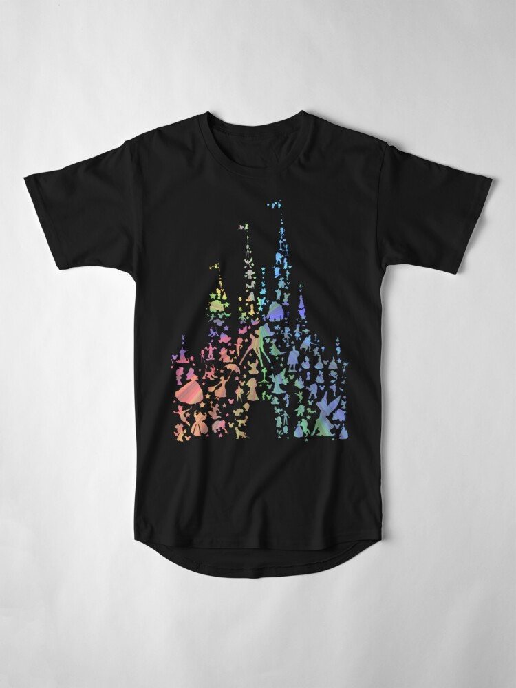 Alternate view of Happiest Castle On Earth (Rainbow Explosion) Long T-Shirt