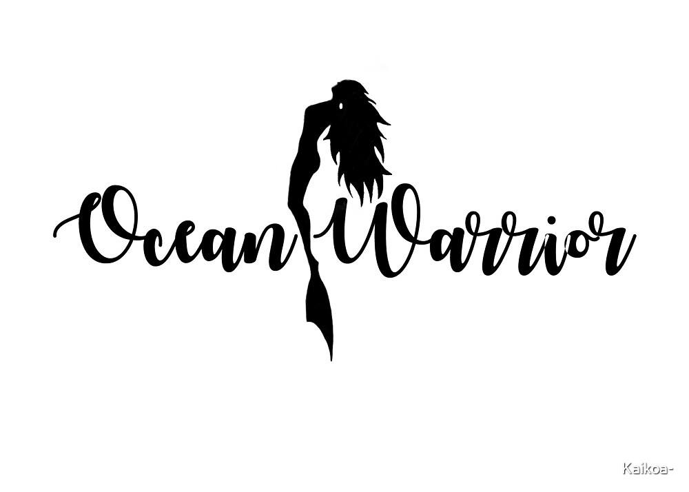 Ocean Warrior Sticker by Kaikoa-