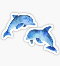 Watercolour Dolphins Sticker