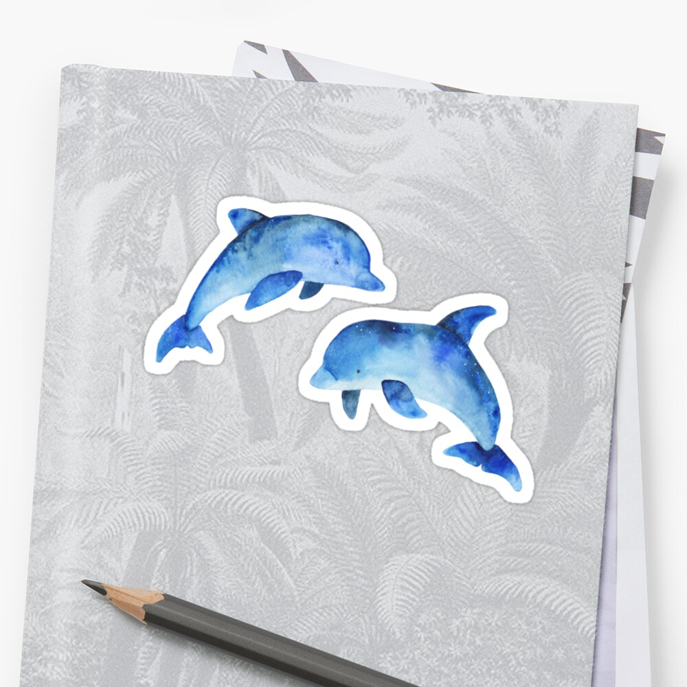 Watercolour Dolphins by ChantelleQueArt