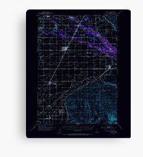 USGS TOPO Map Idaho ID Rigby 239248 1950 62500 Inverted Canvas Print